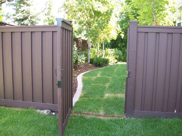 brown vinyl fence | Trex Fencing | Trex Fencing Cost | Ma | Composite Fencing ...