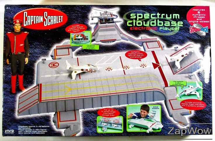 Captain Scarlet Spectrum Cloudbase Electronic Playset made by Vivid Imaginations, Guilford. For sale £79.99