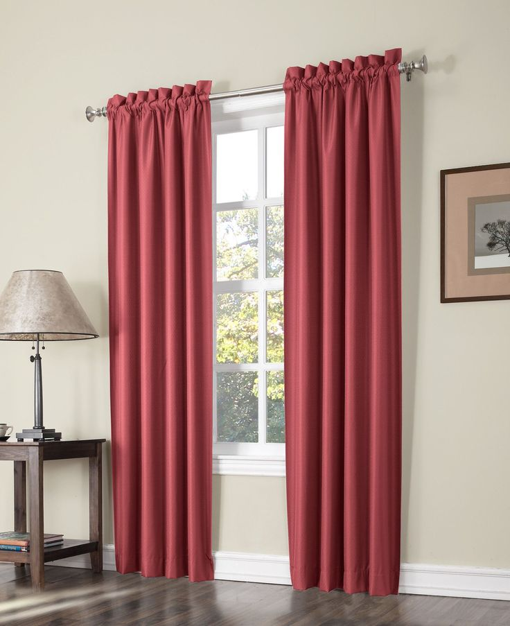 Plainfield Thermal Lined Rod Pocket Curtain Panel Pair