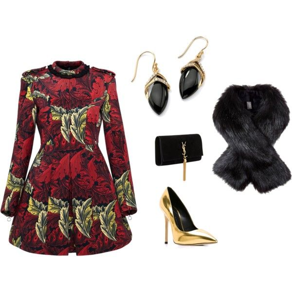 A fashion look from November 2015 featuring velvet dress, high heels stilettos and suede handbags. Browse and shop related looks.