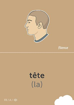 Tête #CardFly #flience #human #french #education #flashcard #language
