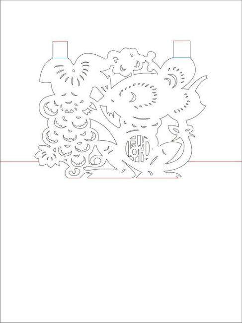 Трафареты для пасхальной открытки в технике киригами