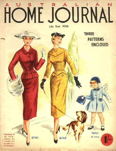 107-2. The dress pattern 8744 from Australian 'Home Journal' of July 2nd 1956 by Natalia Sheppard, via Flickr