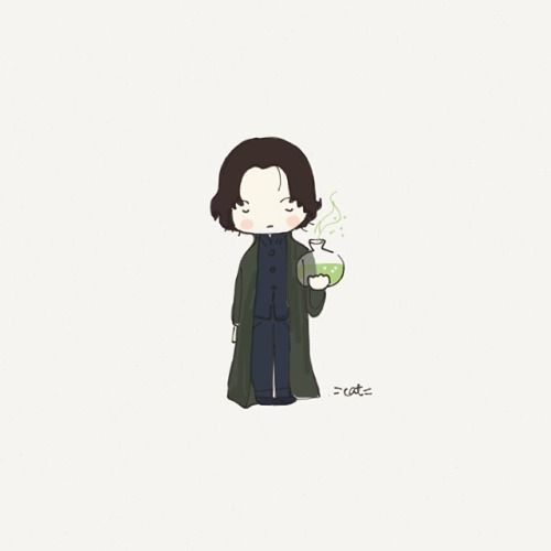 Severus Snape by cat mouse (Cat Plus Mouse on Etsy).