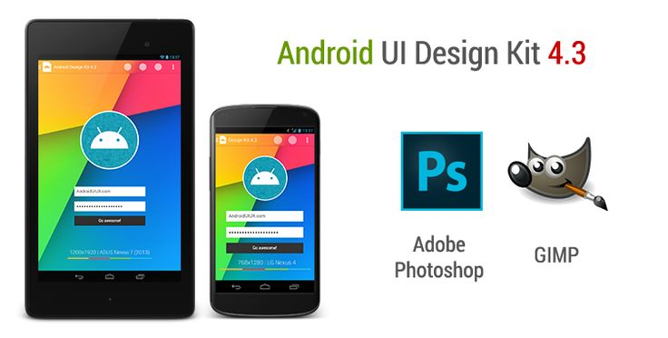 Android UI Design Kit for Photoshop and GIMP, #Android, #Free, #Mobile, #PSD, #Resource, #UI
