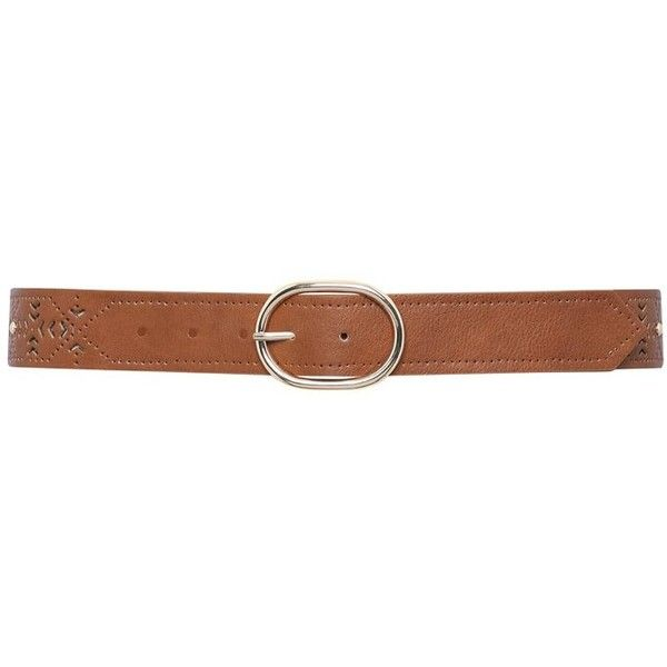 M&Co Cut Out Jeans Belt ($9.23) ❤ liked on Polyvore featuring accessories, belts, cinture, tan, tan belt и m&co