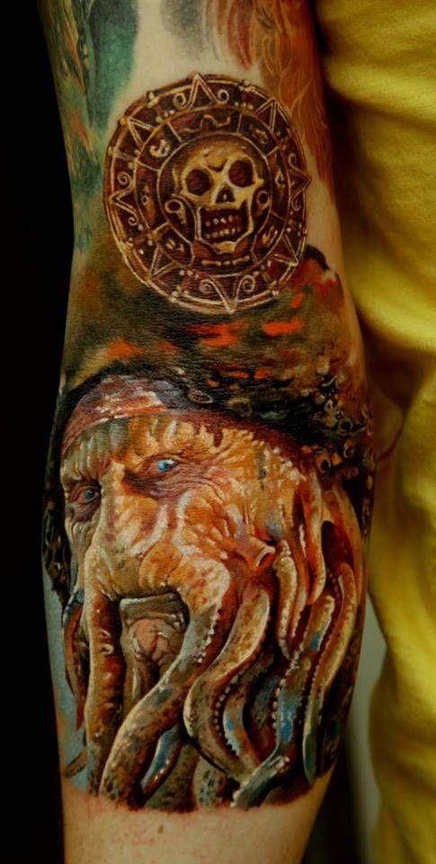 Davy Jones Tattoo by Dmitriy Samohin