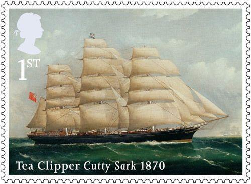 Merchant Navy stamp -1st Class – Cutty Sark, 1870.