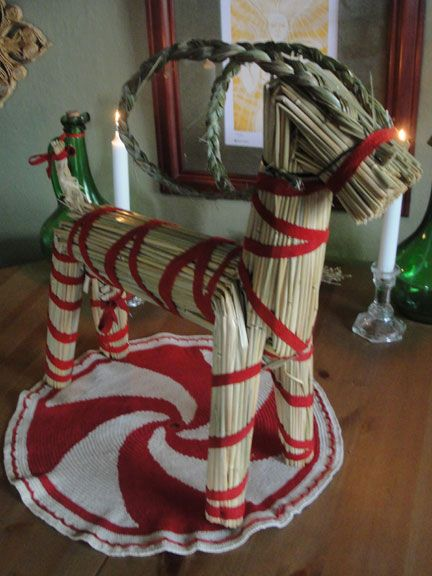 "Make a Yule Bock (""Yule Goat""). Click for instructions."