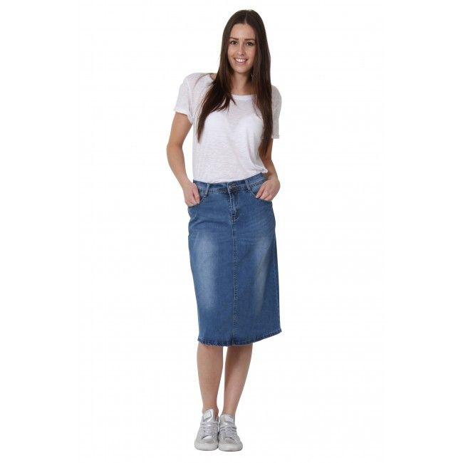 1000  images about Denim Skirts - long, short or midi on Pinterest ...