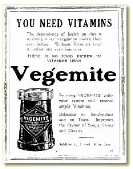 "Vegemite advertisement appearing in ""Women's World circa 1925"""