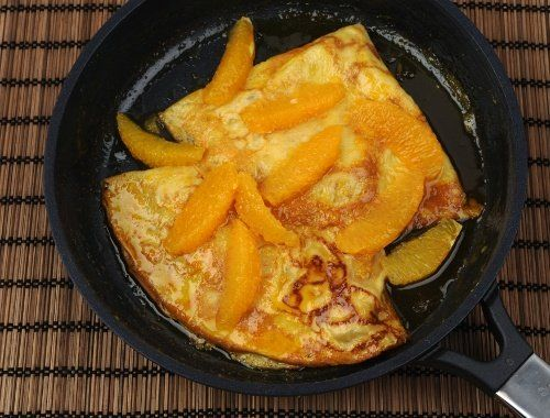 Crepes Suzette recept på crepes med apelsin