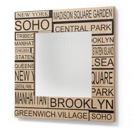 Cool Spiegel Volt Houten frame LaForma Kave Wil jij dat deze spiegel gezien wordt Bestel dan direct deze wandspiegel en hang hem in de gang
