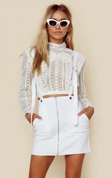 c112a0ca04 For love and lemons monika overalls mini skirt
