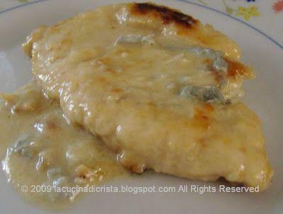 Petto di pollo al Gorgonzola - Piept de pui cu brinza Gorgonzola