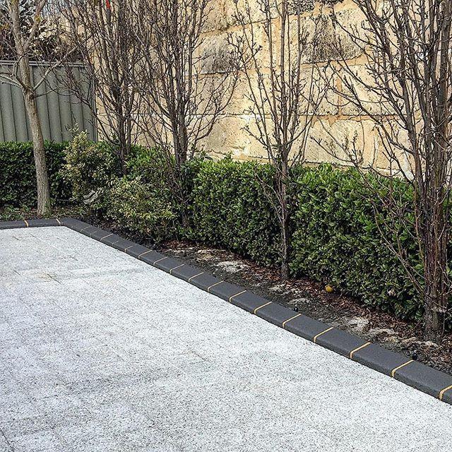 Grey Brick Glazed Kerbing Garden Edging Bordering Pavers To Keep