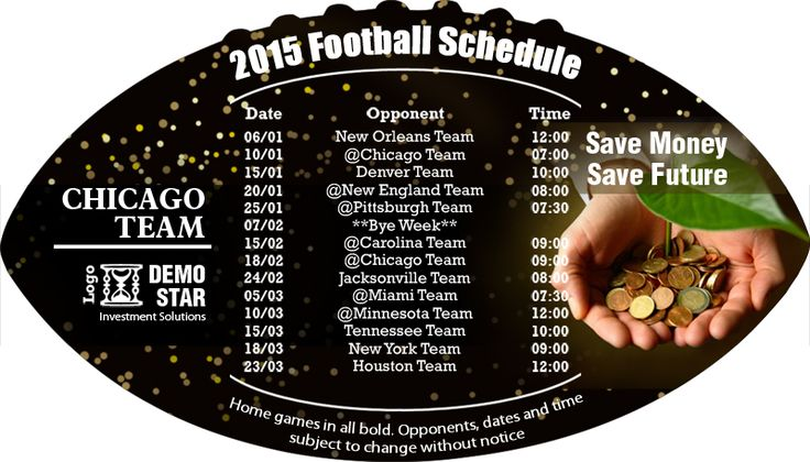 A great choice to get both your business message and sports schedules out at the same time. #Team #Chicago #Football #Magnets #Sports #USA #Freeshipping