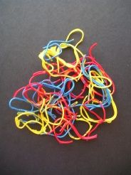 spaghetti painting - easy. glue, spaghetti, paint, wax paper. cool new artwork to hang in their rooms.