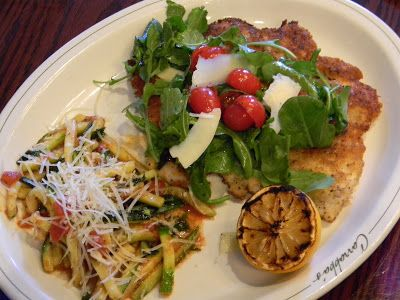 Carrabba's Italian Grill -  Parmesan Crusted Chicken Arugula recipe. http://www.kittenwithawhisk.com/2011/05/foodbuzz-event-at-carrabbas-italian.html
