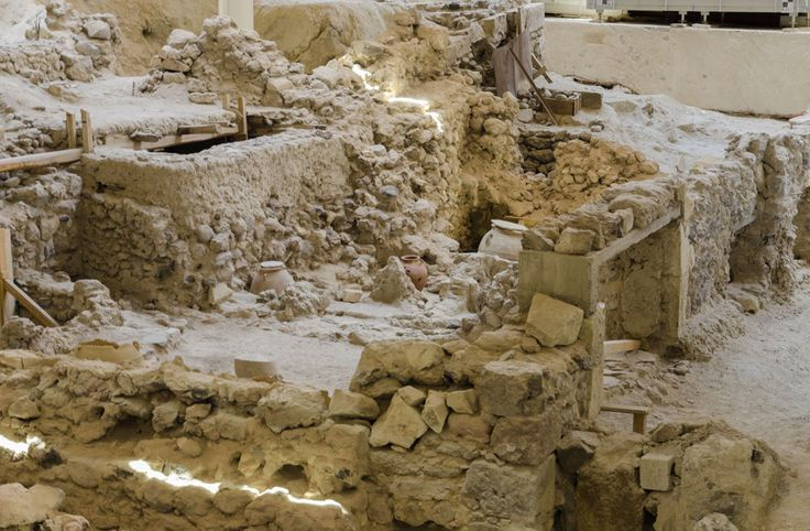 The archeological site of Akrotiri
