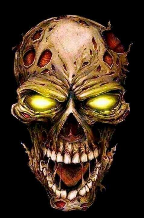 Страшная картинка череп