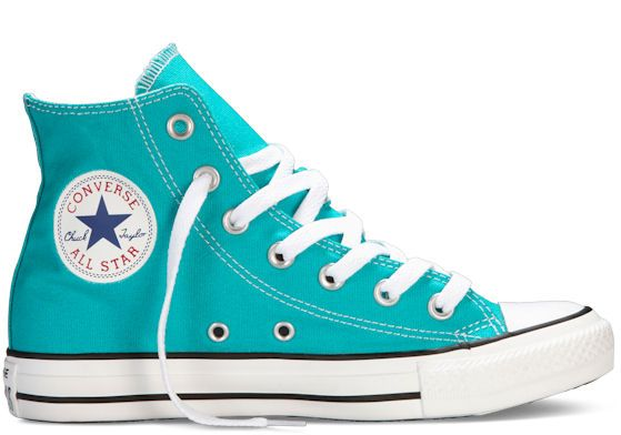 Converse Chuck Taylor All Star Turquoise High Top.