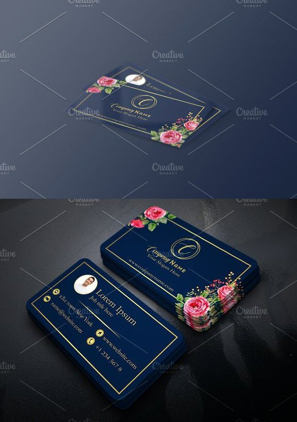 Business card with floral touch business cards card templates and business card with floral touch business cards card templates and illustrator cs5 reheart Images