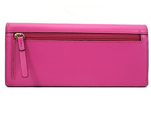 KATE SPADE Amelia Sawyer Street Envelope Skinny Wallet Snapdragon (Pink) WLRU2006  Beautiful skinny/clutch wallet Amelia Sawyer Street by Kate Spade. It made of smooth leather with 14k gold plated Kate Spade Sawyer Street Amelia skinny wallet with gold toned hardware and logo Kate Spade Sawyer Street Amelia skinny wallet with gold toned hardware and logo Flap with front snap closure Kate Spade Sawyer Street Amelia skinny wallet with gold toned hardware and logo Kate Spade Sawyer Stre..