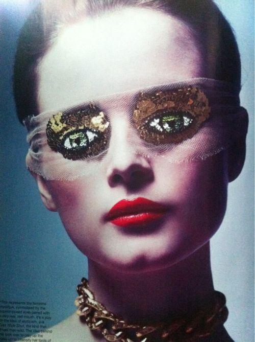 Peter Phillips for Atelier Montex, eye mask, Australian Vogue Oct 2011