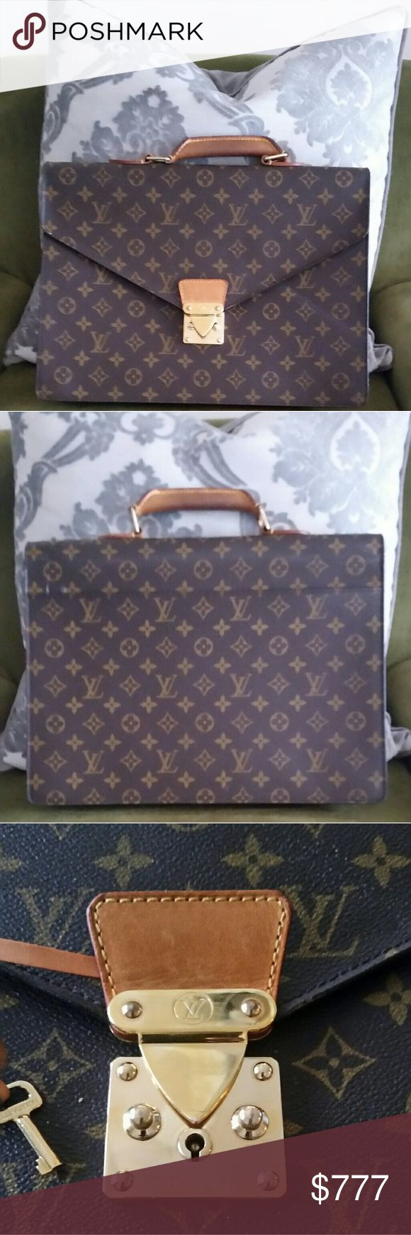 NWOT LV MONOGRAM BRIEFCASE 100% AUTH Real Louis Vuitton Briefcase. No Damage Can Fit Any Macbook Easily Along With Documents.  Orig $2,900 Asking $799 Price reflects:  No dust bag Louis Vuitton Bags