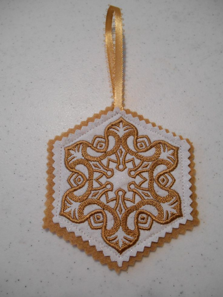 polish christmas ornament  wycinanki ornament  embroidered