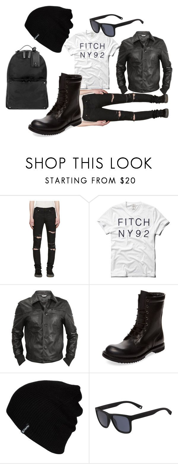 """""""Thursday Outfit (man)"""" by nudge-411 on Polyvore featuring Yves Saint Laurent, Abercrombie & Fitch, Forzieri, Rick Owens, Hurley, Lacoste, Valentino, men's fashion and menswear"""