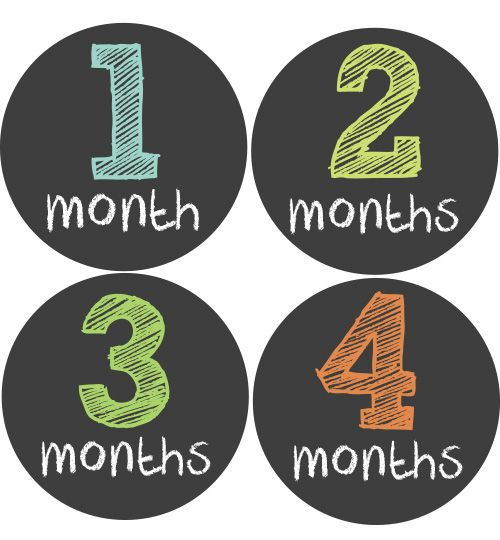 Chalkboard Baby Month Stickers