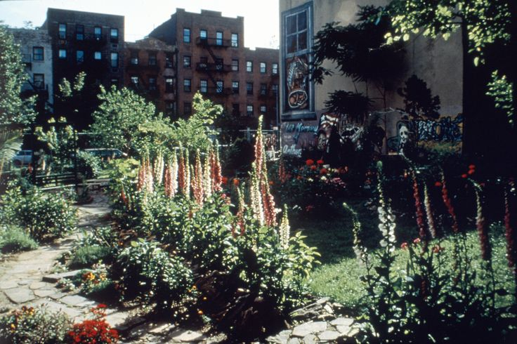 Mendez Mural Garden on 11th Street between Avenues  B & A.  Bulldozed in 1997.