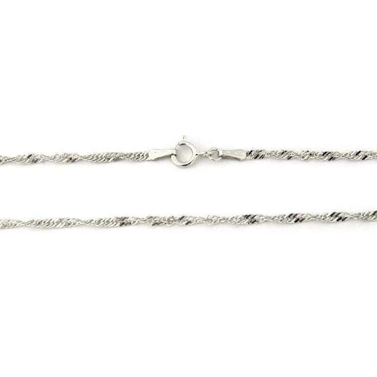 10k White Gold 2.1mm Singapore Chain Anklet, 10' >>> Read more  at the image link. (This is an Amazon Affiliate link and I receive a commission for the sales)