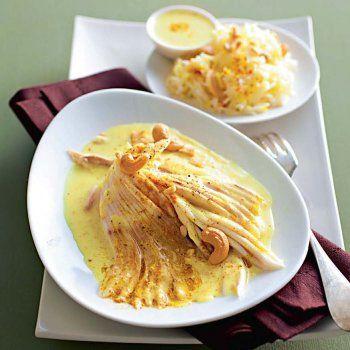 AILE DE RAIE AU CURRY (beurre, farine, curry en poudre, fumet de poisson, crème épaisse, sel/poivre blanc)