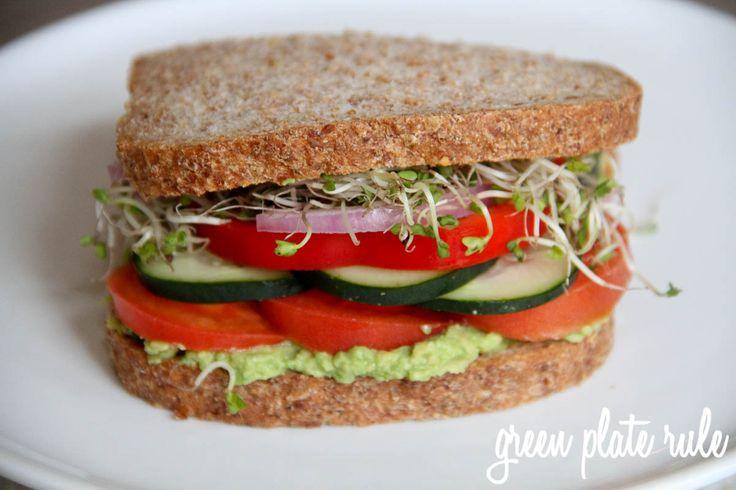 Veggie Sandwich with Avocado Spread