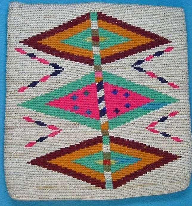 Vintage Native American Corn Husk Bag..Probably Nez Perce. Stunning, near Mint.