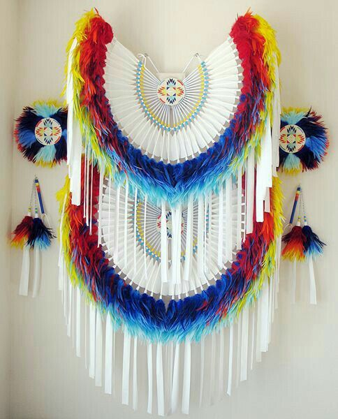 how to make a native american bustle
