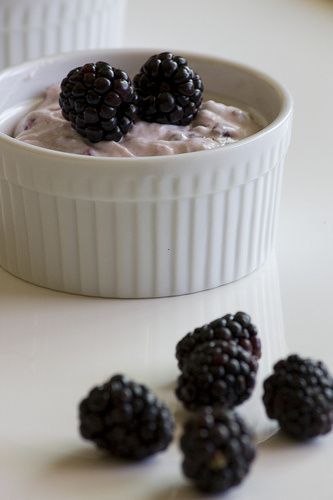 Donna Hay's Blackberry Cheesecake Pots