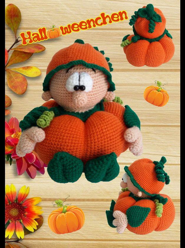 Häkelanleitungen - Häkelanleitung Halloweenchen, Amigurumi, Halloween - ein Designerstück von Sanis-Fitzereien bei DaWanda