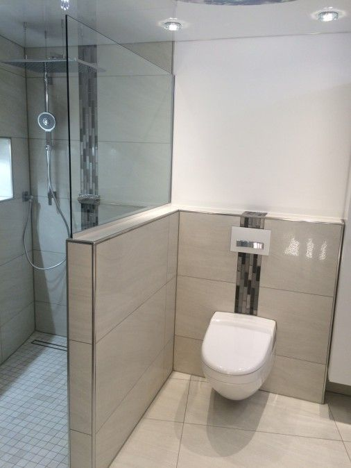 Abtrennung zwischen Dusche und WC