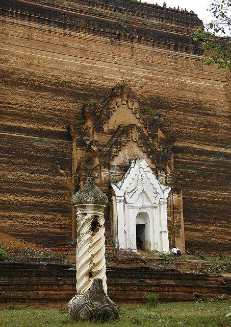 Mingun Paya Brick pagoda  near Mandalay, MYANMAR.  (BURMA)     (by Eric Lafforgue on Flickr.)