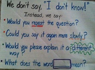"""Instead of saying """"I don't know"""" poster"""