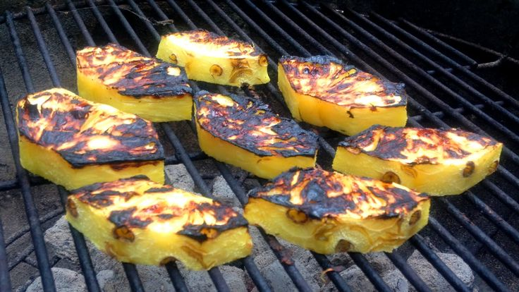 Grilled Pineapple Recipe, perfect for the weekend BBQ, make dessert on the grill. This is also happens to be vegan, so if you are grilling vegetables, take a minute and grill some fruit too. What fun!