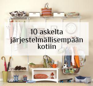 10 askelta järjestelmällisempään kotiin