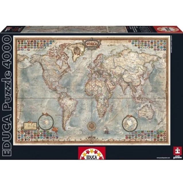 17 best the world map images on pinterest puzzles macbook case 4000 piece puzzle the world map educa gumiabroncs Gallery