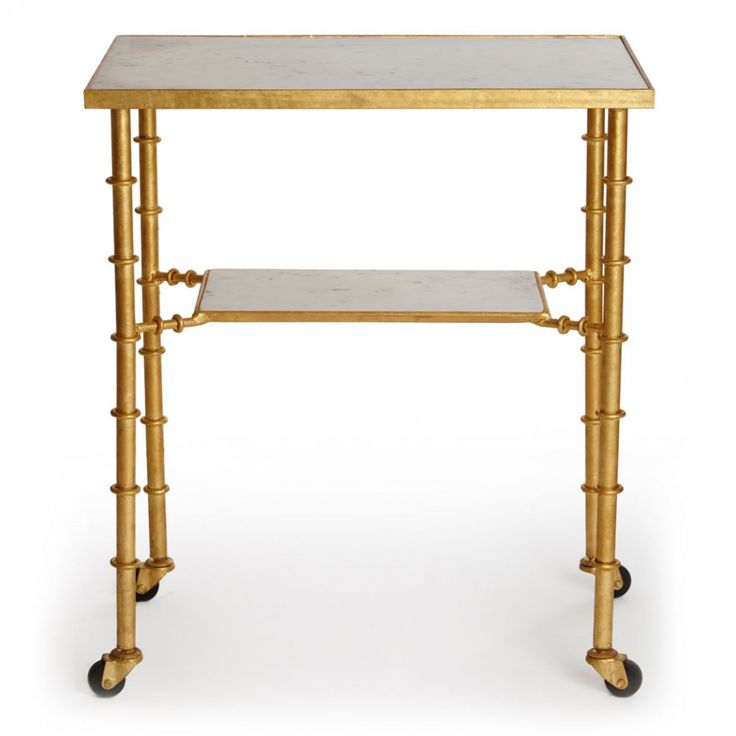 Gold Bamboo Bar Cart | Graham & Green