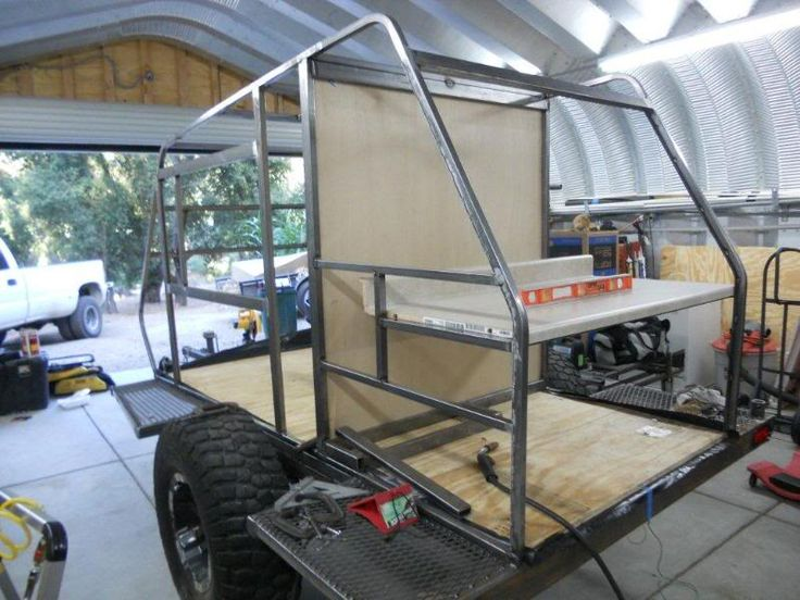 Model How To Build A Car Trailer From An RV Frame  EBay