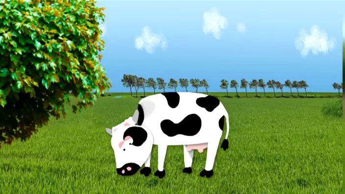 Wolfram vertelt over het leven van de koe op de boerderij. Want waar komt melk eigenlijk vandaan?